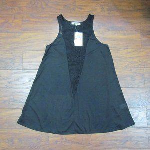 Miken Black Tank Dress Swim Cove-Up XS